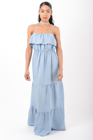Stylish Denim Maxi Dress