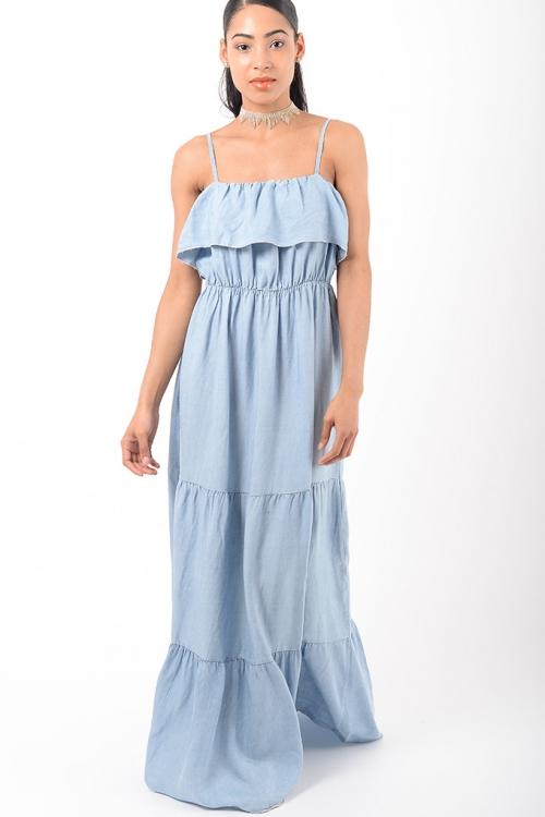 Stylish Denim Maxi Dress