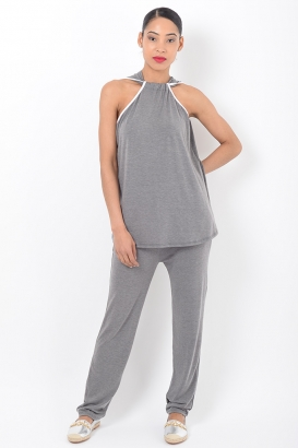 Stylish Grey Loungewear Co Ord Set