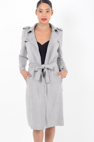 Stylish Grey Suede Jacket