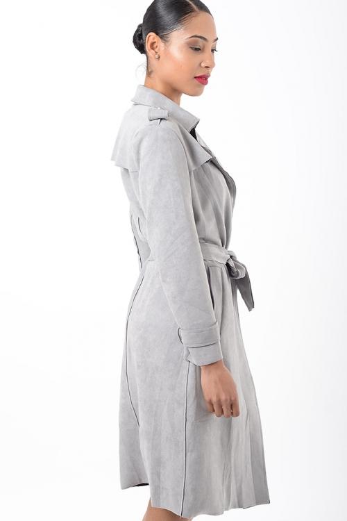 Stylish Grey Suede Jacket