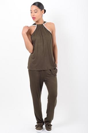 Stylish Khaki Loungewear Co Ord Set