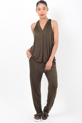 Stylish Khaki Loungewear Co Ord Set