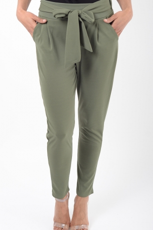 Stylish Khaki Peg Trousers