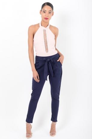 Stylish Navy Peg Trousers