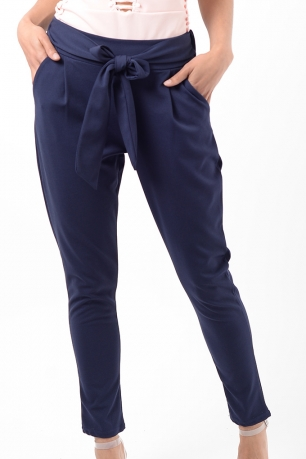 Stylish Navy Peg Trousers