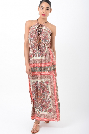 Stylish Paisley Print Maxi Dress