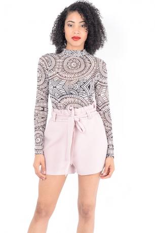 Stylish Pink High Waisted Shorts