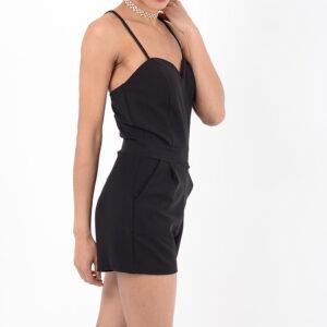 Stylish Strappy Black Playsuit