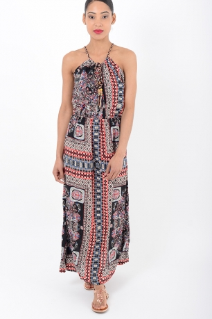 Stylish Strappy Paisley Maxi dress