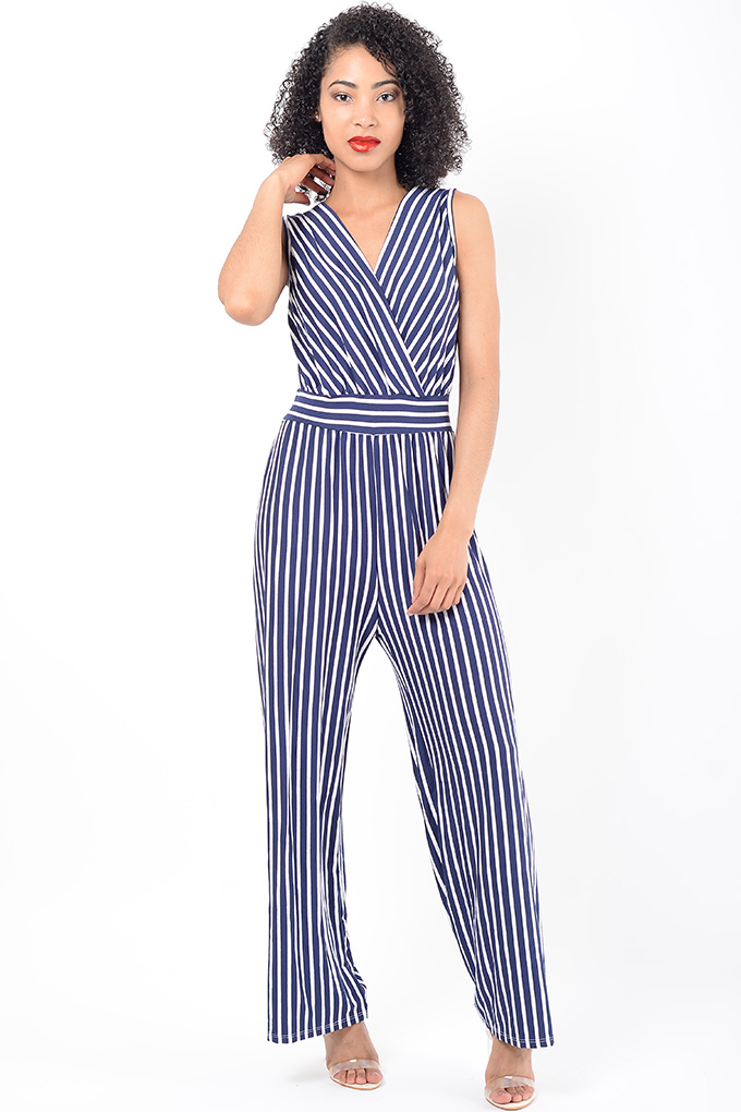 Stylish Striped Wide Leg Jumpsuit Stylish Clothes