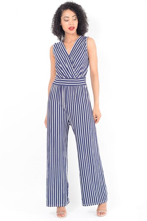 Stylish Striped Wide Leg Jumpsuit