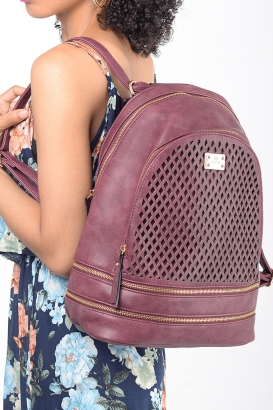 Stylish Bessie London Burgundy Backpack