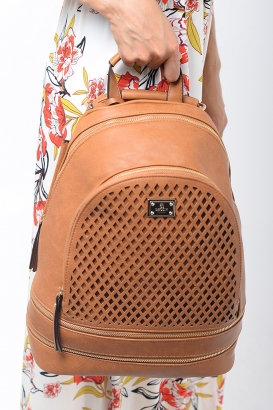 Stylish Bessie London Tanned Backpack