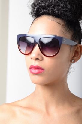 Stylish Blue Frame Sunglasses