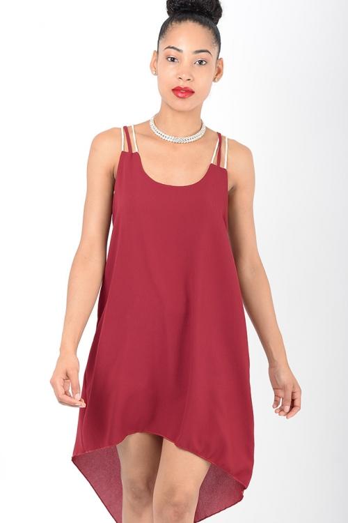 Stylish Burgundy Tunic Dress