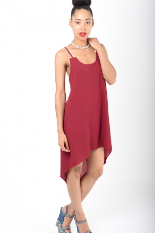 Stylish Burgundy Tunic Dress
