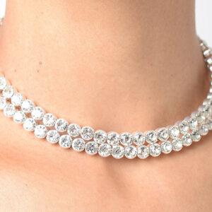 Stylish Circle Diamond Choker