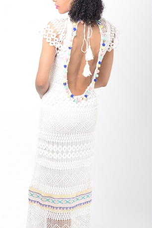 Stylish Crochet Maxi Dress
