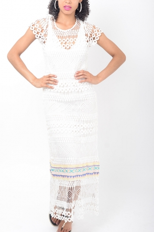 Stylish Crochet Maxi Dress