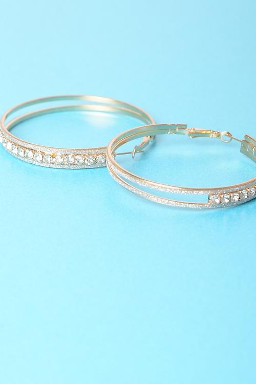 Stylish Diamond Hoops Earrings