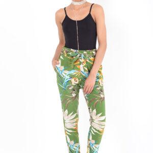 Stylish Floral Peg Trousers