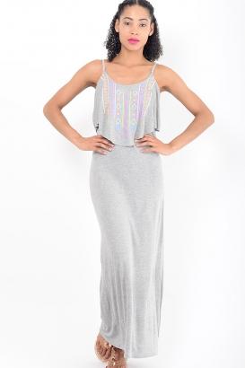Stylish Grey Maxi Dress