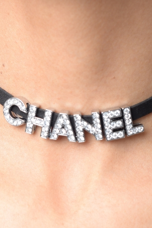 Stylish Letter Word Silver Choker