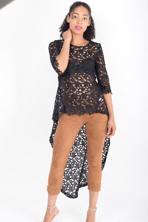 Stylish-Longline-Black-Lace-Top