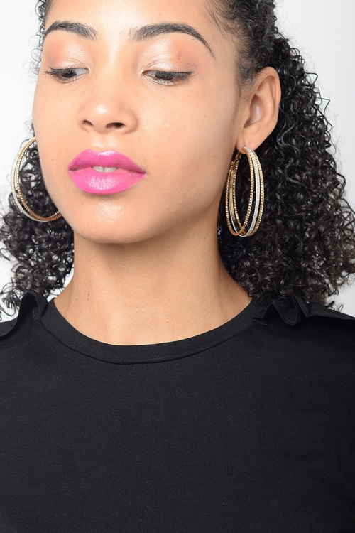 Stylish Multi Colour Hoops Earring
