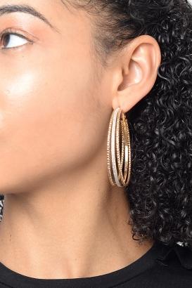 Stylish Multi Colour Hoops Earring