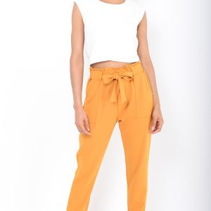 Stylish Mustard Peg Trousers