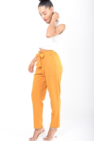 Stylish Mustard Peg Trousers