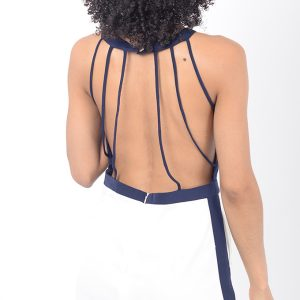 Stylish Open Back White Playsuit
