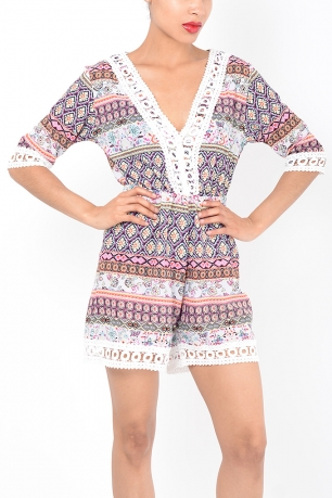 Stylish Paisley Playsuit
