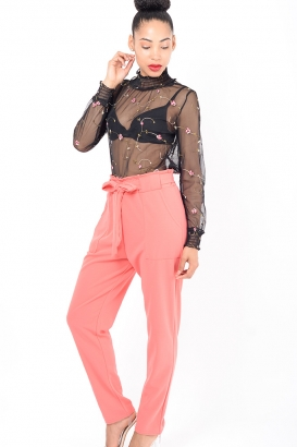 Stylish Pink Peg Trousers