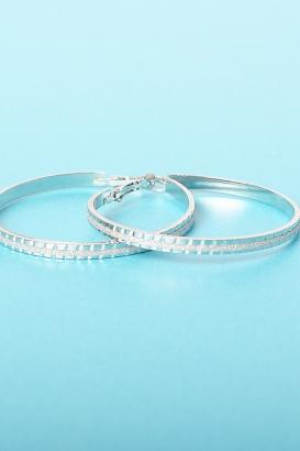 Stylish Silver Hoop Earrings