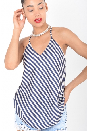 Stylish Striped Cami Top