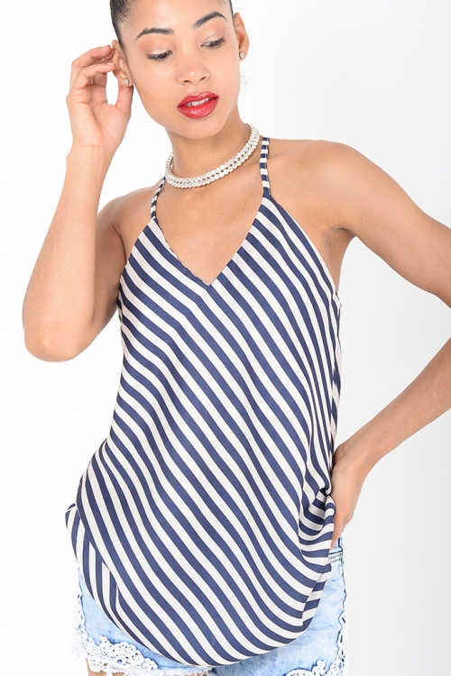 Stylish Striped Cami Top