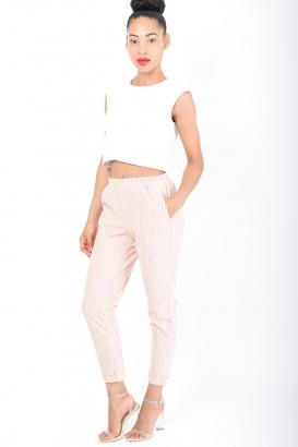 Stylish Striped Peg Trousers