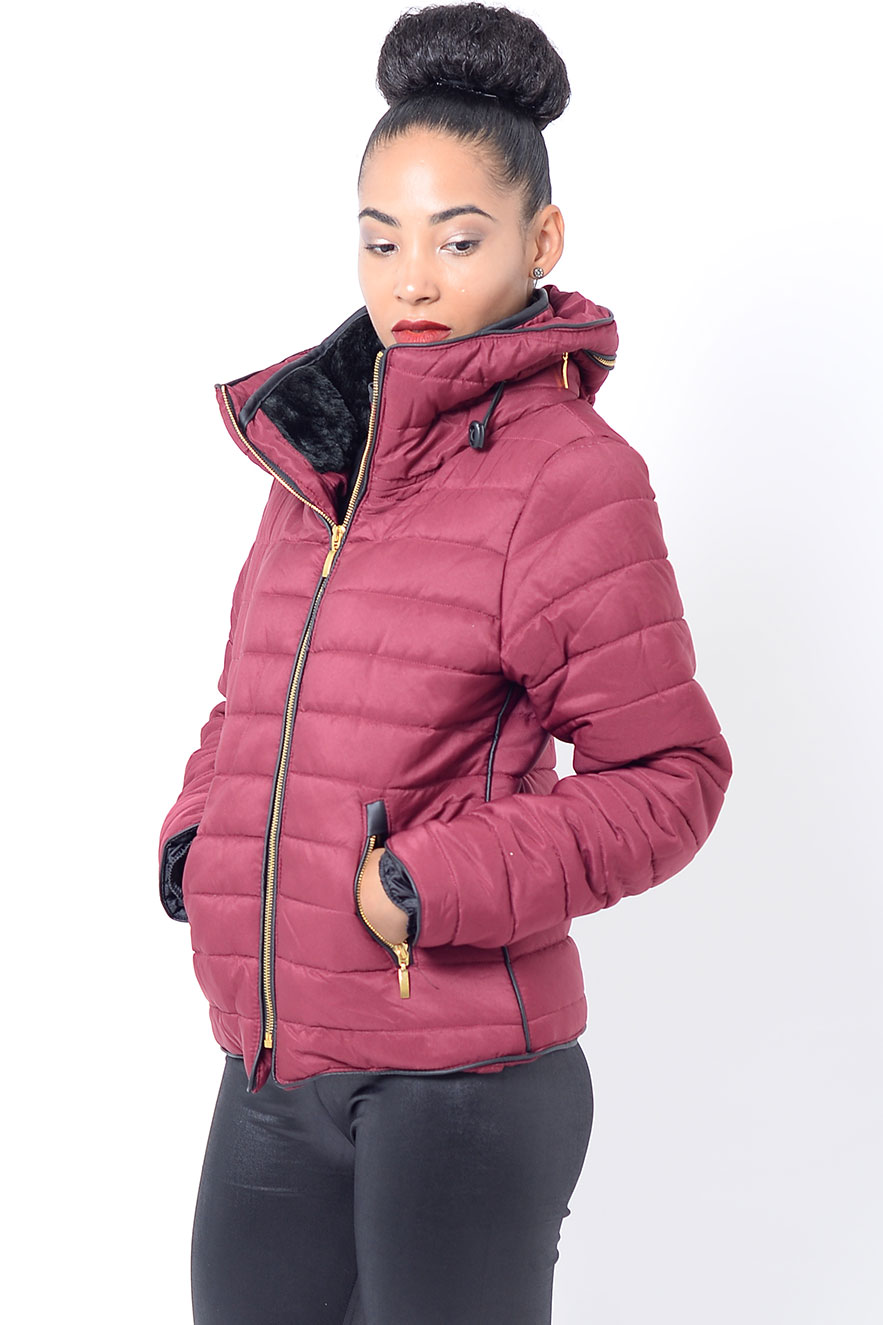 Stylish Burgundy Padded Jacket Stylish Jackets Amp Coats