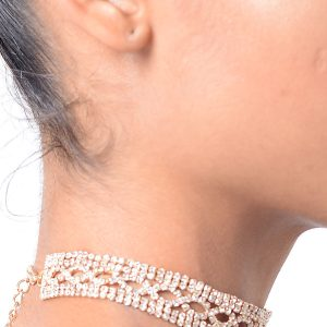Stylish Gold Round Diamond Choker