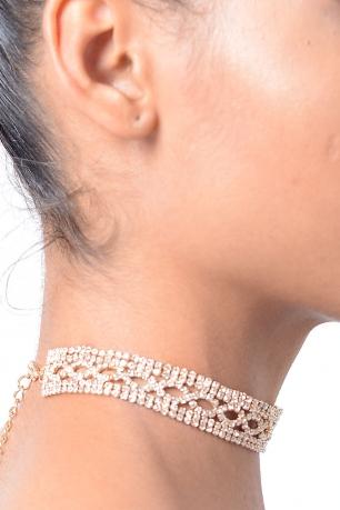 Stylish Gold Round Diamond Choker