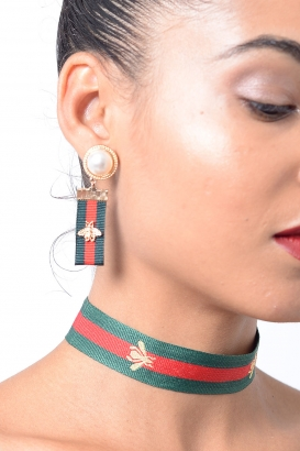Stylish Drop Multi Colour Earring