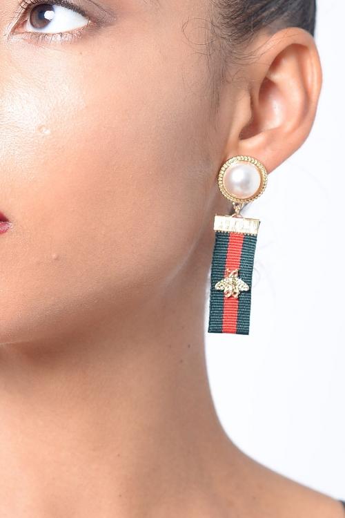 Stylish Drop Multi Colour Earring