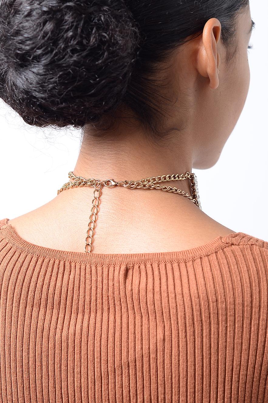 c4b08d074f Stylish Gold Crystal Diamond Choker Necklace | Diamond Choker, Choker