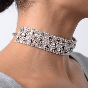 Stylish Silver Diamond Choker