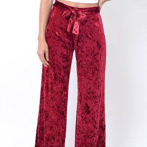 Stylish Velvet Wide Leg Trousers